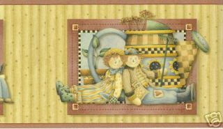 Wallpaper Border Debbie Mumm Country Rag Dolls
