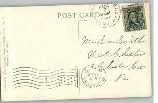 Postcard Twilight View at Delaware Water Gap Pennsylvania PA