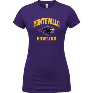 Montevallo Falcons Purple Womens Bowling Arch T Shirt