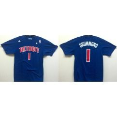 Detroit Pistons Andre Drummond Blue Name and Number Jersey T Shirt
