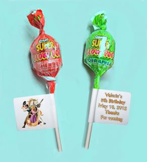 30 Disney Tangled Personalized Candy Birthday Favors Lollipop Labels
