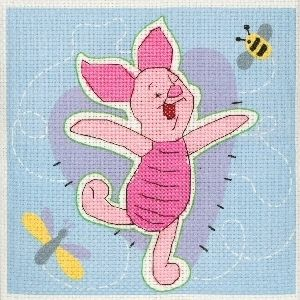 Anchor Disney Pooh Cross Stitch Kit Piglet and Bee