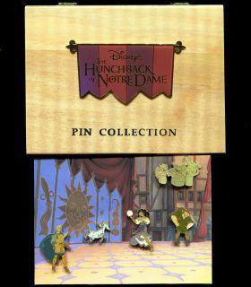 1996 HUNCHBACK OF NOTRE DAME COMMEMORATIVE 5 PIN SET
