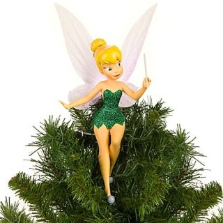 Tinker Bell Green Christmas Tree Topper Light up Figurine