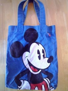 Disney Couture Mickey Mouse Tote Blue Purse Handbag Book Bag School