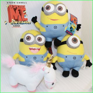 Despicable Me Minion Unicorn 4X Plush Toy Stuffed Animal 9 Teddy Toys