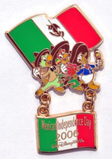 Pin 49663 WDW   Mexican Independence Day 2006 (The Three Caballeros)
