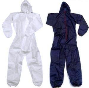 Disposable Coveralls Overalls Navy White Boilersuit Hood Painters Suit
