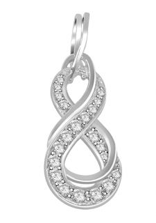 SI1 G 0 60 CTW White Gold Round Cut Gold Diamond Jewelry Knot Pendant