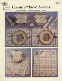 country table linens 4 cross stitch pattern leaflet