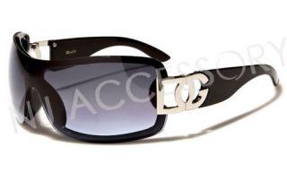 Hot New DG Designer Womens Fashion Shield Sunglasses Black Frame w