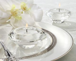 48 Crystal Diamond Shaped Tea Light Holder Wedding / Bridal Shower