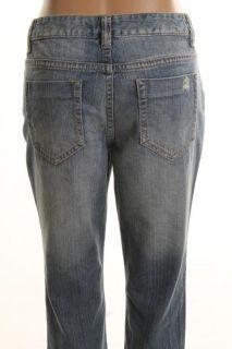 DKNY New Blue Denim Distressed Low Rise Sand Wash Skinny Jeans Petites