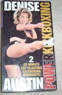 Denise Austin Power Kickboxing Workout Video VHS Fitness Exercise