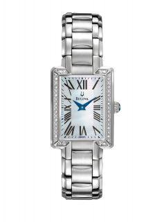 Bulova MOP Dial Fairlawn Diamond Collection Ladies Watch 96R160