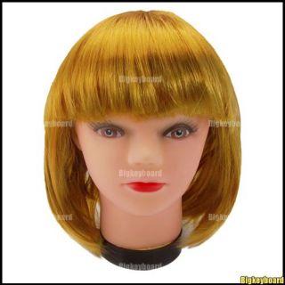 New Bob Short Ladies Womens Wig Fancy Dress Cosplay Party