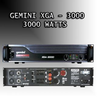 XGA 3000 Watts Stereo 2 Channel Power Amplifier XGA3000 DJ AMPLIFIER