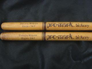 Dennis Wilson BEACH BOYS Authentic Drum Sticks signed RARE item