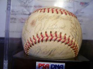 1968 Detroit Tigers World Series Autographed Ball PSA