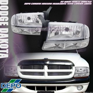 Head Lights Lamps Parking Signal 97 04 Dodge Dakota Durango