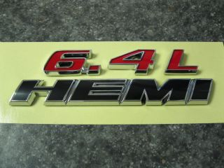 2011 2012 DODGE CHALLENGER CHARGER 6 4L 392 HEMI EMBLEM DECAL