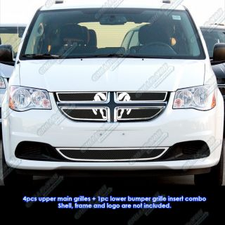 2011 2012 Dodge Grand Caravan Stainless Steel Black Mesh Grille Insert