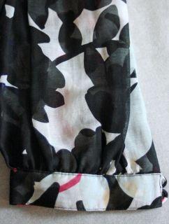 DVF Diane Von Furstenberg Sheer Wrap Top Spring Shadows $175 Womens 4