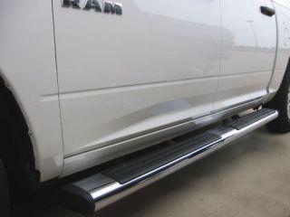 Dodge RAM Quad Cab Step Bars 2009 2011 6 Oval Chrome Lifetime