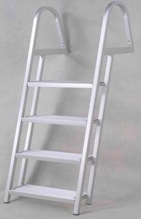 New 64 4 Step Aluminum Al Dock Deck Boat Ladder Pontoon Sea Wall