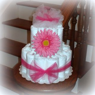 Gerber Daisy Diaper Cake Centerpiece Baby Shower Gift Table Decoration