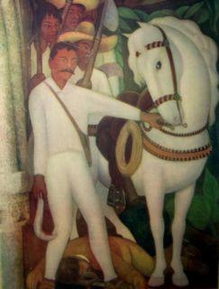Diego Rivera Emilio Zapata Vintage Print Mexico
