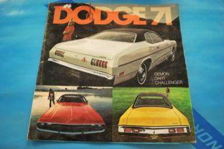 71 Dodge Challenger Dart Brochure Mopar