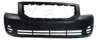 Dodge Caliber 07 10 Front Bumper Cover Primed w O Fog Light Holes New
