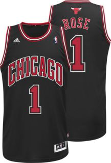 Derrick Rose Jersey Adidas Revolution 30 Black Swingman 1 Chicago