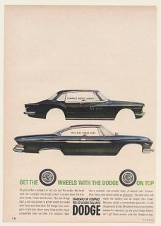 1961 Dodge Lancer Dart Get The Wheels Dodge on Top Ad