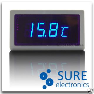 Blue Car Digital Thermometer Temperature Meter in Out