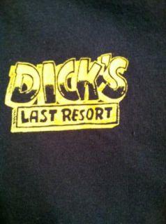 Vintage Dicks Last Resort Dea Shirt Navy Very Funny