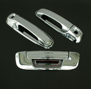2002 2008 Dodge RAM 3DR Chrome Door Handle Tailgate Cover