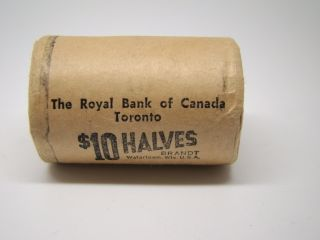 BANK ROLL OF 1967 UNC CANADA SILVER 50 CENT HALF DOLAR COINS