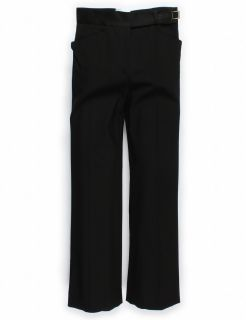 Dolce Gabbana Stretch Wool Black Trousers Sz EU Pants Trouser Wide Leg