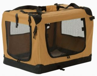 New Large Fold Away Pet Carrier Dog Crate Sherpa Cushion Pad 29 x 20
