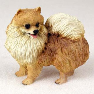 Pomeranian Hand Painted Collectible Dog Figurine