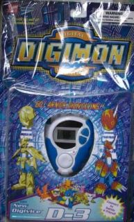 Digimon D 3 Digivice Version 1 0 White Blue Color Bandai