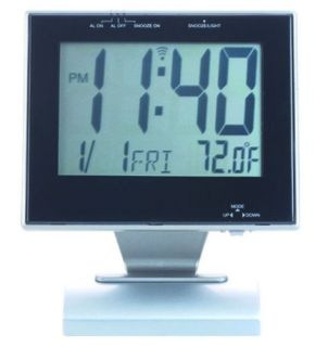 Large Flat Panel Desktop Digital Alarm Clock LCD Gift