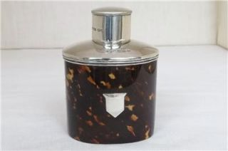 FINE VICTORIAN STERLING SILVER & FAUX TORTOISESHELL TEA CADDY CHESTER