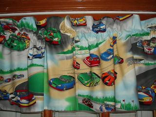 Premade Race Track Stock Car Racing Stockcar Lined Boys Bedroom