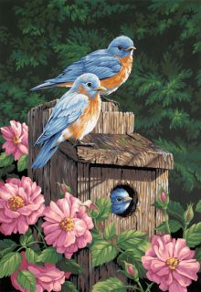 Garden Bluebirds Paint By Number Kit 14 X20 91401