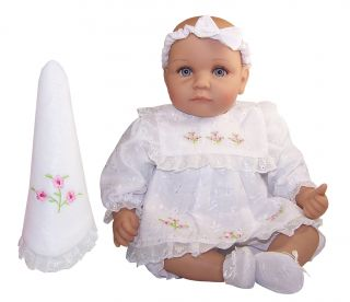 Molly P Originals Dina 16 Vinyl Cloth Doll Baby with Blanket Weighted