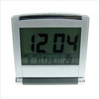High quality Atomic Digital travel Alarm Clock with Temp Display