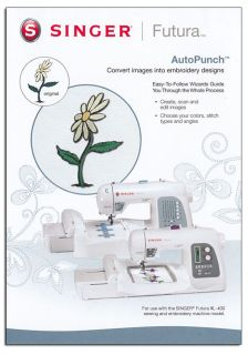 Sewing Embroidery Machine AutoPunch Digitizing Software Futura XL 400